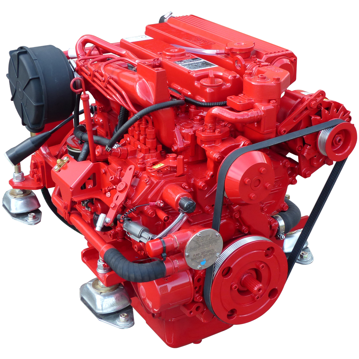 Beta Marine Seagoing Heat Exchanger Cooled Marine Propulsion Engines from 10 to 150 bhp